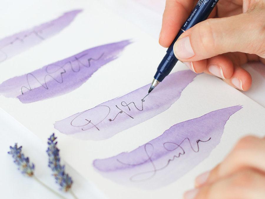 Curso lettering con rotuladores Escuela Project Party