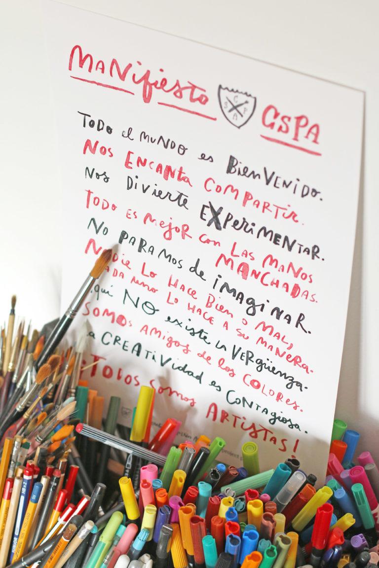 Frases de creatividad niños - Manifiesto descargable del Club secreto de pequeños artistas