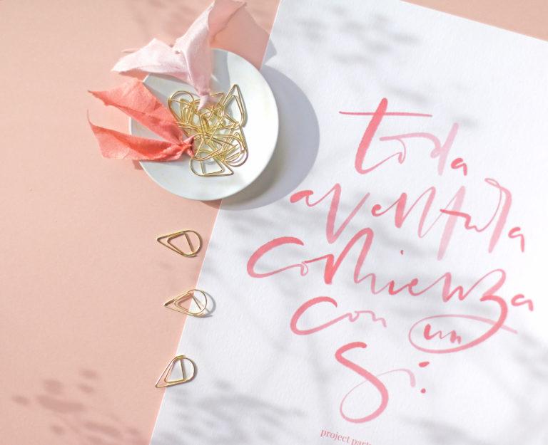 Lámina descargable gratis de Project Party para San Valentín