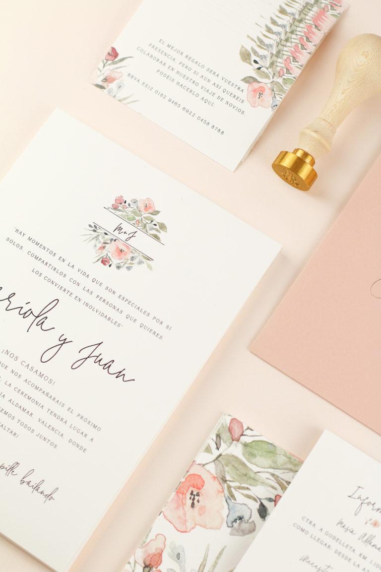 Project party - branding invitación de boda